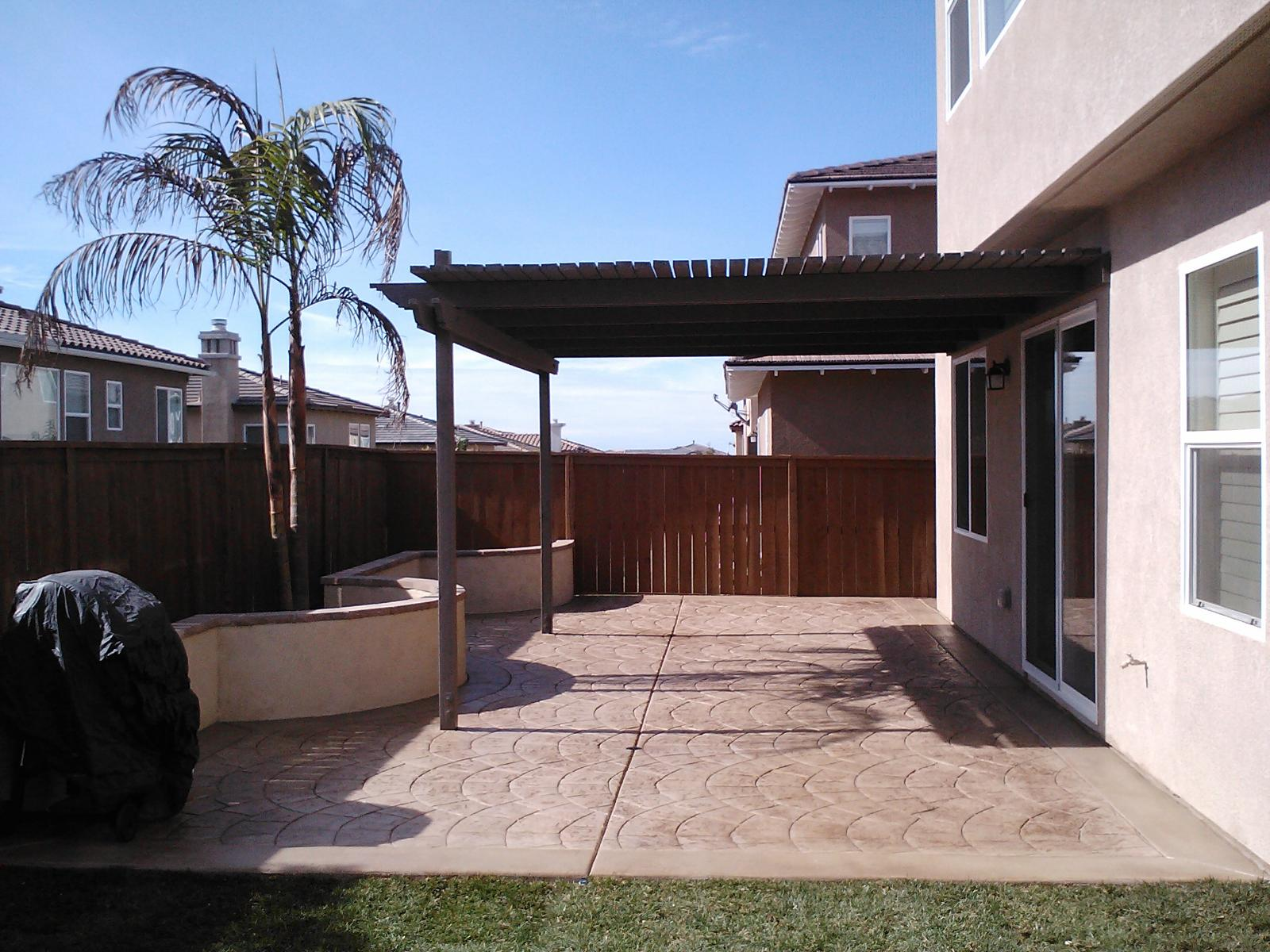 Stamped Patio Concrete Contractor Carlsbad, Decorative Concrete Patio Contractors
